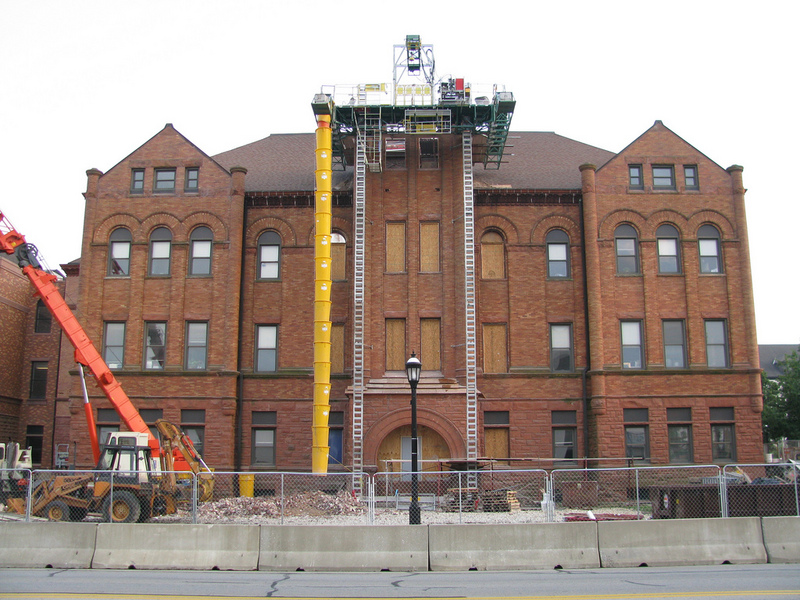 Courthouse belltower renovation, 2008