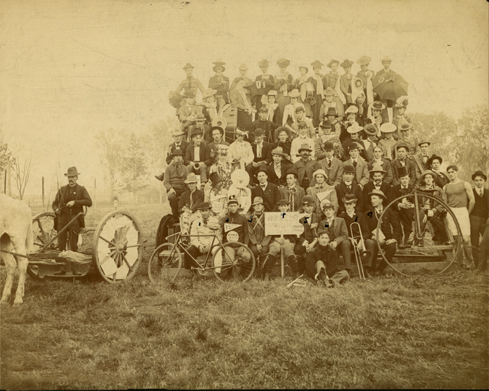 "Meeting of the ""Hoboes Union,"" 1901"