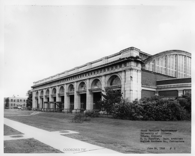 the Stock Pavilion before reconstruction