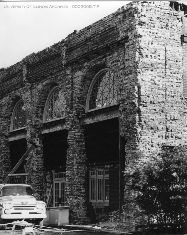 the Stock Pavilion during construction