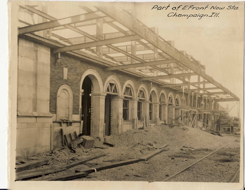 Part of East Front, New Station