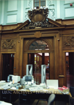 The reference desk in the Reading Room of the Main Library, Oct 28, 1991
