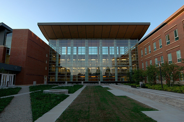 Business Instructional Facility courtyard