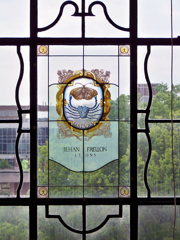Printer's Mark Window in the Reading Room, May 5, 2010