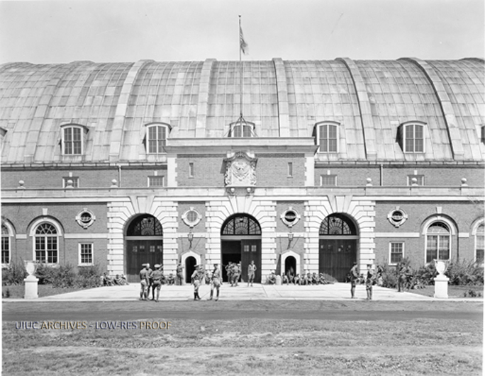 South entrance of the Armory circa 1930s