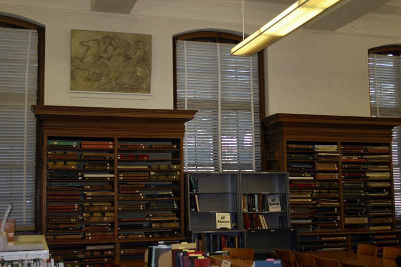 Ricker Library shelving and casts