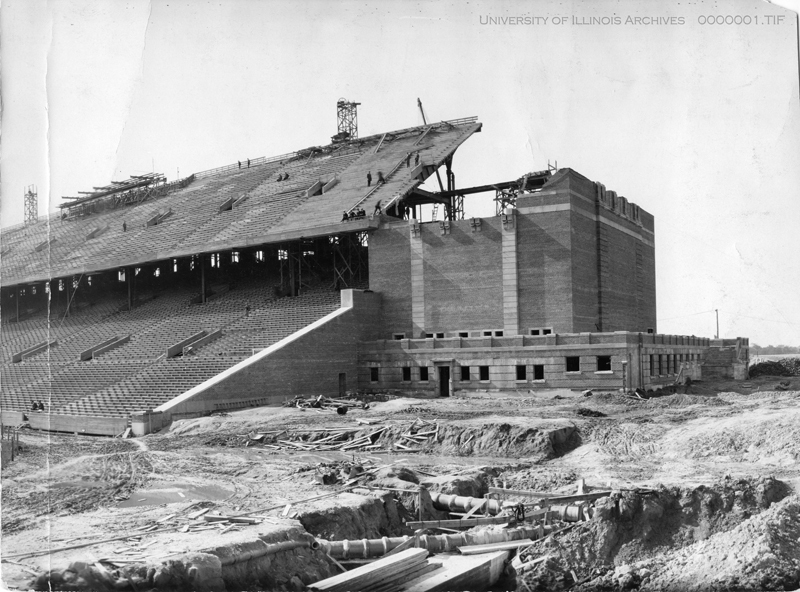 Construction of Memorial Stadium, 1923