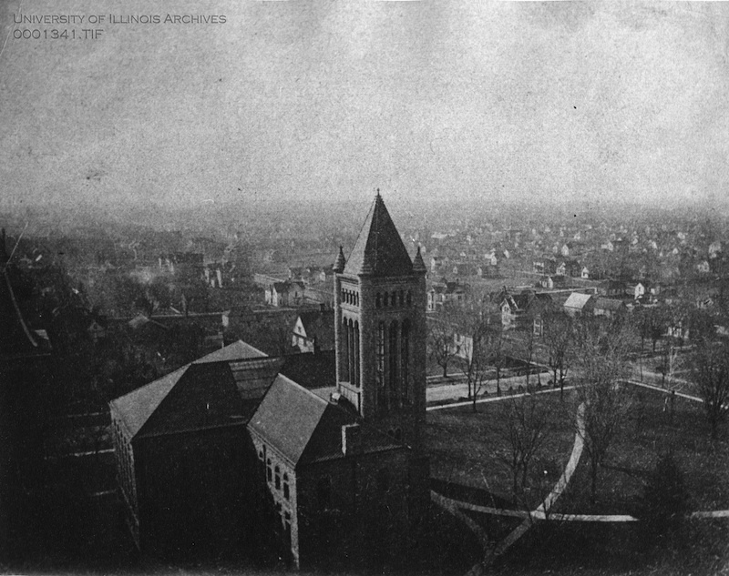 Altgeld Hall (Library Building) Aerial View, 1901