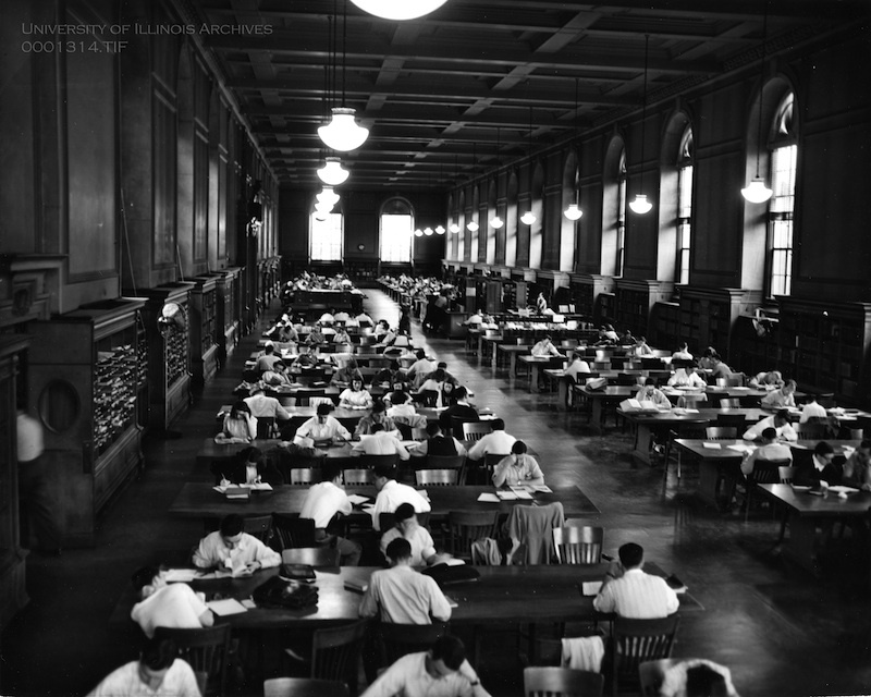 Library Main Reference Room, circa 1960