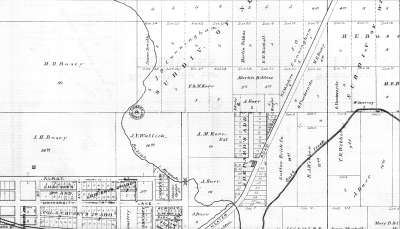 early property map of the Crystal Lake Park area