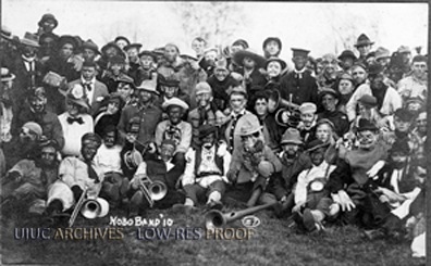 The Hobo Band poses for a picture in 1910