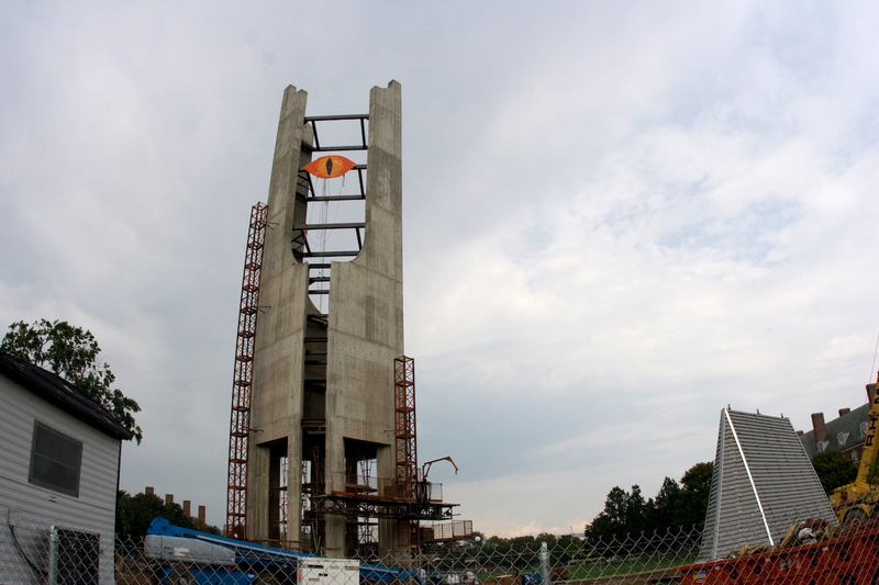 """the unfinished McFarland Bell Tower with the """"Eye of Sauron"""""""