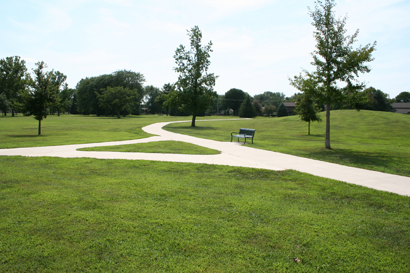 Path and bench at Morrissey Park