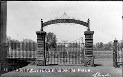 Entrance to Illinois Field, ca. 1913