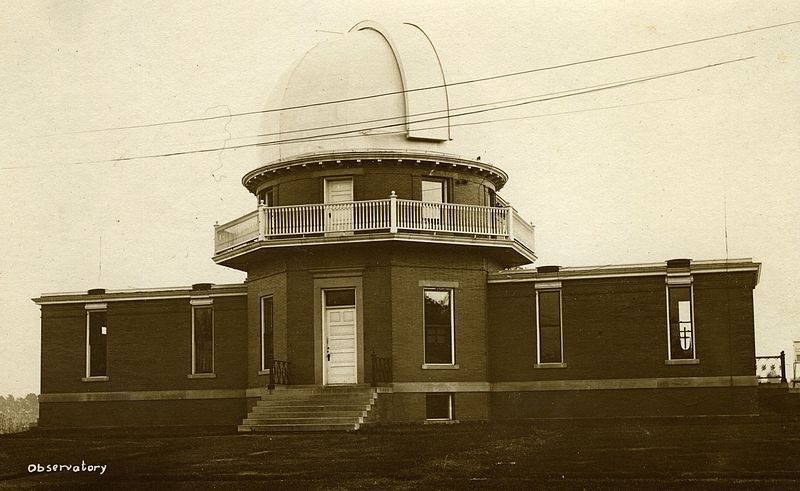 Postcard from 1905 showing the University of Illinois Astronomical Observatory