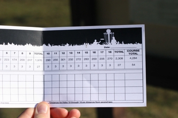 Disc Golf Score Card