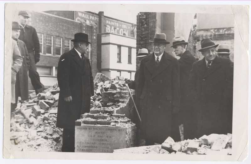 Remains of Old City Hall, 1935