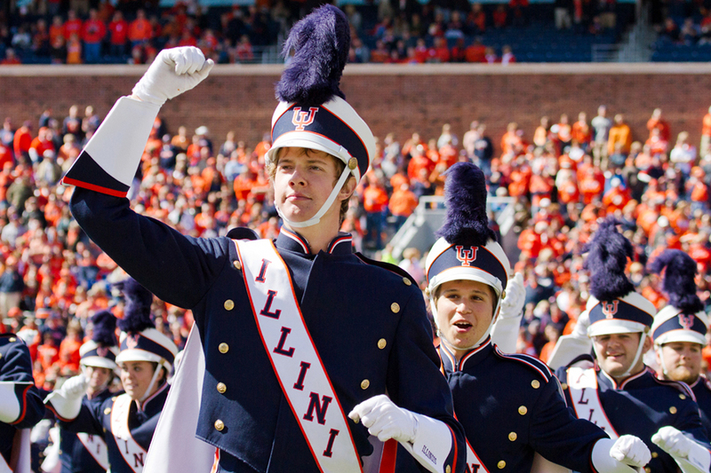 Marching Illini, Homecoming game