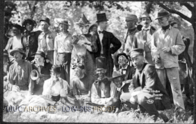 The Hobo Band of 1912 poses for a picture