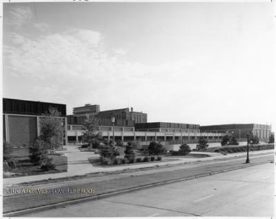 Exterior of IMPE (Intra-mural Physical Education) Building, 1973