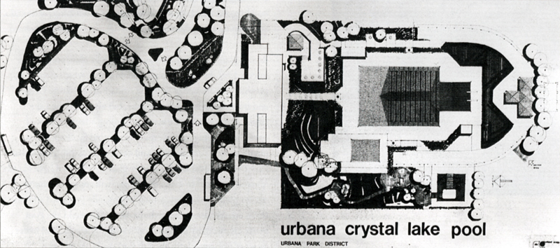 drawing of the Crystal Lake Pool