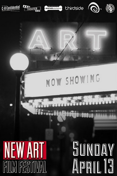 Poster for the New Art Film Festival, presented by C-U Confidential