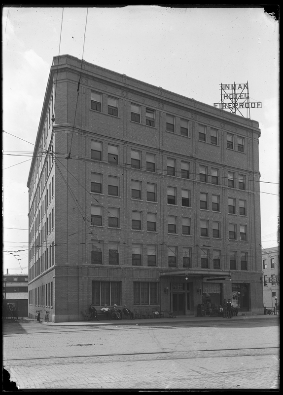 View of Inman Hotel from southeast corner