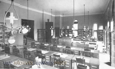 Altgeld Hall Library, circa 1900