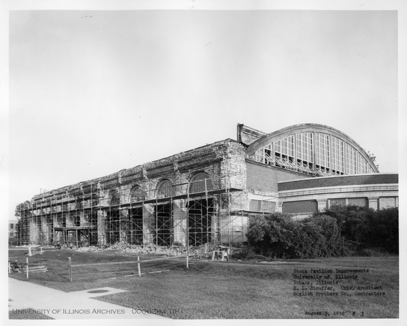 the Stock Pavilion during reconstruction