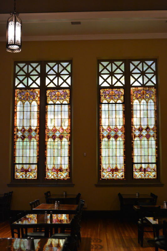 Stained Glass Windows in Monarch Brewing Company