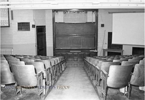 Chemistry Annex lecture hall, 1980