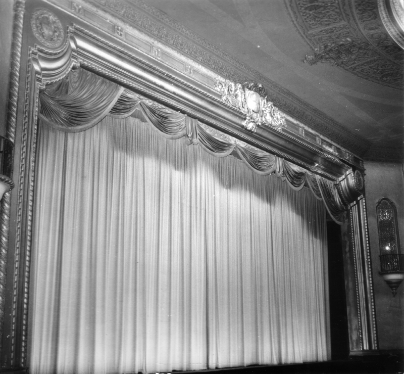 Virginia Theater stage in the 1960s