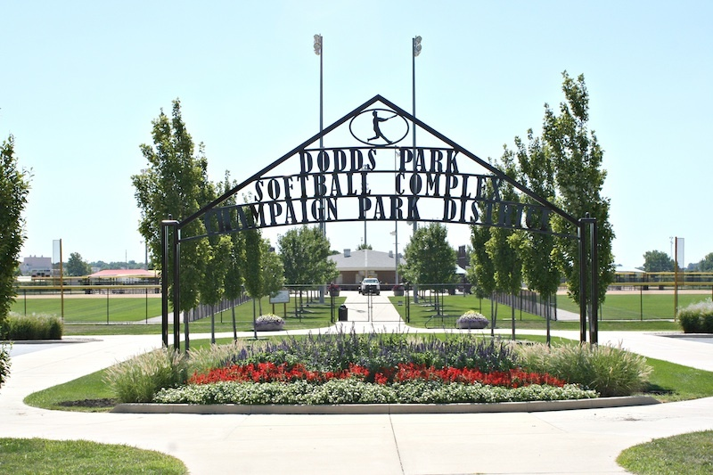 entrance sign for softball complex